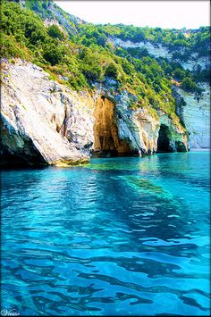 Crystal water of Paxos, swimming here 5.7.2013