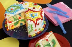 colorful cake for kids .. so cute!!