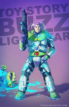 Buzz Lightyear BADASS by Tohad