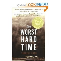 """The Worst Hard Time"" by Timothy Egan is recommended by Stacy Dean Campbell from the television series 'Bronco Roads'"