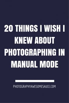 manual mode, how to