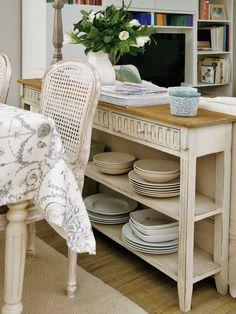 Consola acabada en chapa de madera de roble en color - Oficios de ayer muebles ...