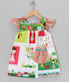Take a look at this Green Happy Village Henrietta Dress - Toddler  Girls by Sweet Petunia on #zulily today!