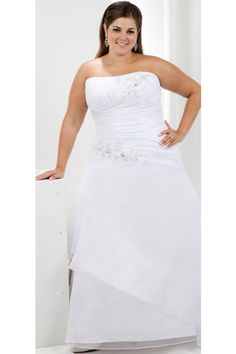 Plue Size,Cheap Wedding Dress Strapless Floor Length Organza NZD 241.09 EPP2JCT98Y - ElleProm.com -  For more amazing deals visit us at http://www.brides-book.com/#!brides-book-outlets/ck9l and remember to join the VIB Ciub