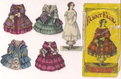Fanny Fair 4 Dresses Missing Hat McLoughlin Bros. With Envelope