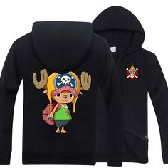 One Piece Chopper with book bag logo in the back zip-up hoodie sweatershirt