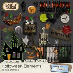 Scrapbooking TammyTags -- TT - Designer - Danish Design, TT - Item - Element, TT - Theme - Halloween