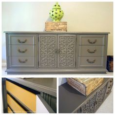 Marigold and Pewter Dresser Makeover