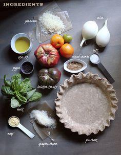 Beautiful! // Heirloom Tomato Pie