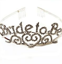 A REAL Rhinestone Bride to be Tiara - for a Bachelorette Party or Bridal Shower $10.99 bachelorette crown, bachelorette parties, tiara, bride to be crown, brides, rhineston bride, bachelorette party crown, bachelorett parti, bridal showers