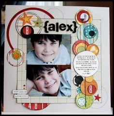 #papercraft #scrapbook #layout.   {alex} - Boy Layout