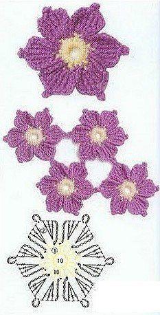 crochet flower crochet patterns flowers, flore, crochet motif, crocheted flowers, crochetflowers, crochet flowers diagram, design, flower chart, flower patterns
