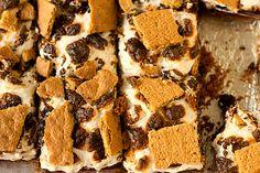 Yum-yum-yum!!! S'mores Brownies. #smores #camping #food #dessert #chocolate #marshmallows #cookies #brownies #bars