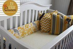 DIY Custom crib bumper. Easier and cheaper than you'd think!