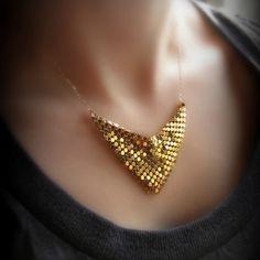 golden veil necklace