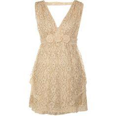 Cream Lace Beaded Dress - Miss Selfridge