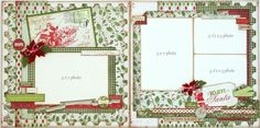 great Christmas layout! I soo love the green.