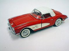 Diecast model Franklin Mint '59 Red Corvette in 1/16 scale $85.00