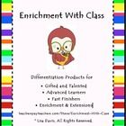 Enrichment with Class- Differentiation is my specialty! Ready-to-go activities for enrichment, high achievers, gifted, & fast finishers! Let me do the work for you... custom requests welcome!   challengelabenrichment.blogspot.com