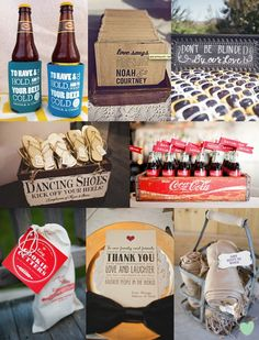 Cool Things for Your Wedding Guests Mood Board from The Wedding Community