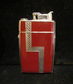 Vintage Cigarette Case Art Deco Lighter Evans Case Lighter 1940s Enamel Case Lighter Vintage Case Lighter WORKING LIGHTER