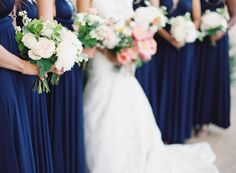 royal blue bridesmaid dresses Photography: Jen Huang Photography - jenhuangphotography.com Read More: http://www.stylemepretty.com/2014/09/08/modern-tuscan-inspired-wedding-with-pops-of-color/