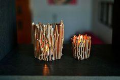 DIY: Candles with branches - Velas con ramas