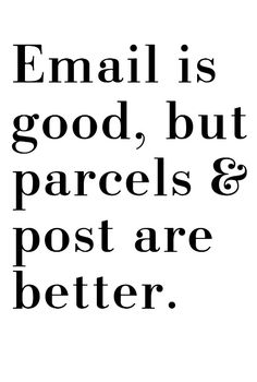 parcels and post are