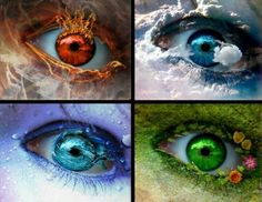 The Four elements water, element, body parts, window, season, wicca, green eyes, earth, eye art