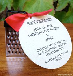 """Jac o' lyn Murphy: """"Grate"""" little Pizza Party Invitations"""