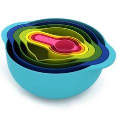 Space saving, rainbow, food prep nesting set | Offbeat Home