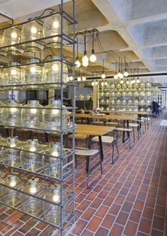 Barbican Foodhall and Lounge / SHH  industrial restaurant interior design