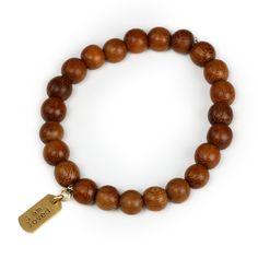 i am loved teak wood bead gold dipped bracelet, gold dipped #dogeared #iam #loved #bracelet