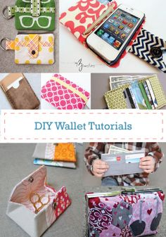 Create a fun, DIY wallet with these tutorials.