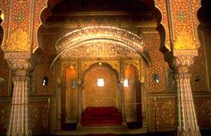 Interiors, Junagarh Fort, Bikaner, Rajasthan, India
