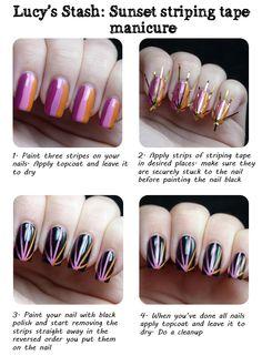 summer challeng, nail art tutorials, challenges, nail designs, luci stash, nail arts, nail tutorials, nails, summer sunris