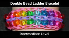 Rainbow Loom Patterns: Double Bead Ladder Rainbow Loom Pattern (youtube tutorial)