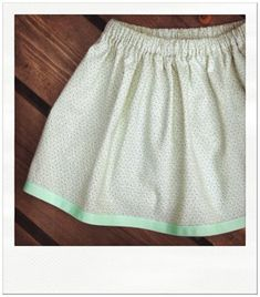ribbon hem skirt