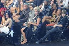 That awkward moment when Lady Gaga wins an award wearing a meat dress and other celebrity reactions are on camera.