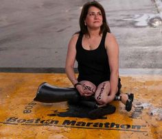 Celeste Corcoran, survivor. | Incredible Portraits Of Boston Marathon Survivors With Messages Of Healing And Hope To The World