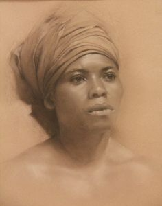 "Saatchi Online Artist: Mary Jo Popp Johnson; Charcoal, Drawing ""Memories Unbroken"""
