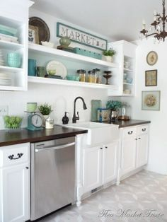 Don't want a white kitchen but love incorporating a bright color