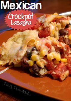 Mexican Crockpot Lasagna - with  vegan/vegetarian option