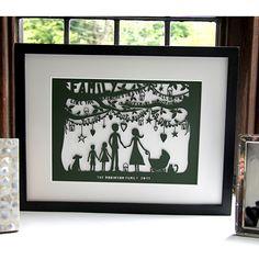 Folk Art Family Tree Papercut