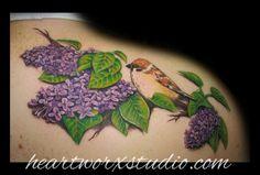 lilac tattoo... beautiful shading!