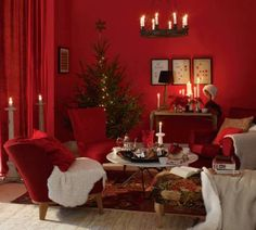 Red decor, design