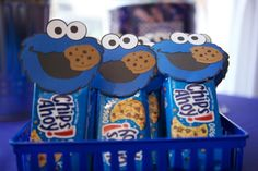 party favors, street party, cookie monster party, cooki monster, birthday parties, birthday idea, sesam street, 2nd birthday, 1st birthdays