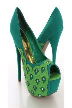 . seagreen faux, blingsens shoe, pumps, faux sued, heels, sued spiki, spiki pump, pump heel, green pump