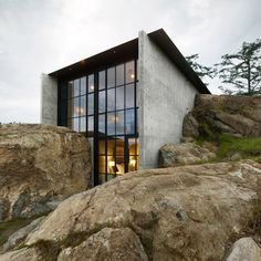 green roofs, architects, houses, san juan islands, architecture, stone hous, homes, rocks, design