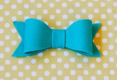 felt bow, bow tutorial, tree decorations, hair clips, blue, bow ties, hair bows, blog, sewing patterns